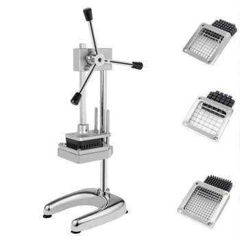 """Vertical French Fries Machine with Three 3/8"""" & 1/4"""" & 1/2"""" Blades Silver"""