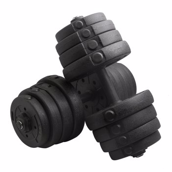 Body Building Apparatus Household Dismountable 30KG No Smell Eco-friendly Chromed Dumbbell Black