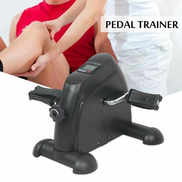 Home Gym Exercise Pedal Mini Stepper Cycling Bike Fitness Trainer Workout Black