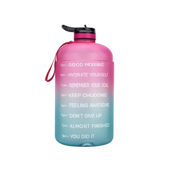 Motivational Water Bottle 128oz 1 Gallon Large Capacity Leakproof BPA Free Fitness Sports Water Bottle with Straw and Time Marker (Do Not Sell on Amazon)