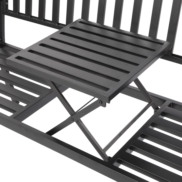 59inch Outdoor Wrought Iron Lift Tea Table Bench