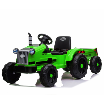 Toy Tractor with Trailer,3-Gear-Shift Ground Loader Ride On with LED Lights
