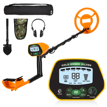 New Metal Detector Discrimination Mode Waterproof LCD 10inch Metal Finder Treasures Seeking Tool w/Shovel ,Bag And Headphone
