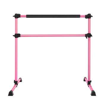 Double-Decked Liftable Home Dance Studio Ballet Pole Yoga Stretching Fitness Dance Pole Pink