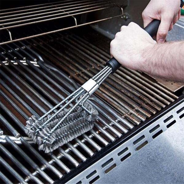 """14 """"932 ° F Barbecue Gloves And 18"""" 3-Wire Barbecue Brush Set, Grill Set Bbq Tools Bbq Accessories"""