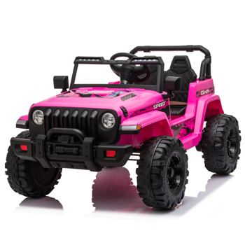LEADZM LZ-9956 Dual Drive 12V 7A.h with 2.4G Remote Control Electric Car Pink