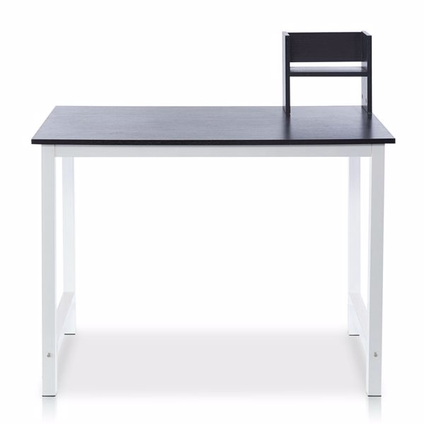 Wood Computer Desk PC Laptop Table Study Workstation Office Home W/ Shelf Stand