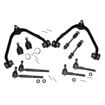 Ford F-150 Expedition 2WD RWD 10pc Front Upper Control Arm Ball Joint Kit