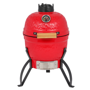 13in Round Ceramic Charcoal Grill Orange
