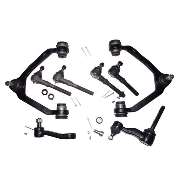 10pc Front Upper Control Arm Idler Pitman Tierod Kit Ford F-150 Expedition 4WD
