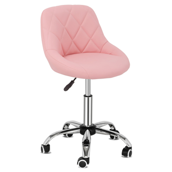 FCH Square Bar Stool with Straps Pink