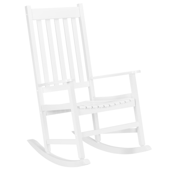 68.5*86*115CM Square Wooden Rocking Chair White