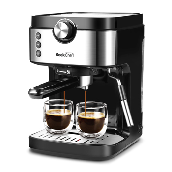 Espresso Machine 20 Bar Coffee Machine With Foaming Milk Frother Wand, 1300W High Performance No-Leaking 900ml Removable Water Tank Coffee Maker For Espresso, Cappuccino, etc.Banned on Amazon