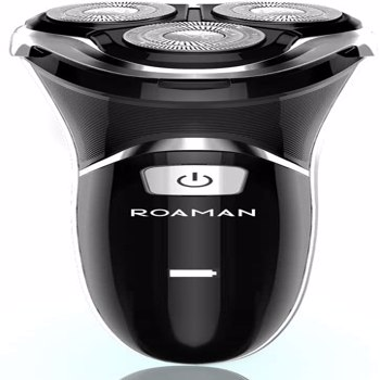 ROAMAN Electric Shaver Electric Razor for Men Cordless Rechargeable 100% Waterproof IPX7 Wet & Dry Rotary Shavers for Men Electric Shaving Razors with Pop-up Trimmer,Black