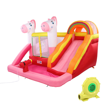 Inflatable Jumping Castle with Pool and Slide ,include Air Blower