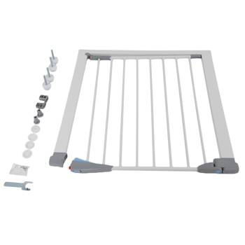 """Steel pipe white fence 72 * 76cm + 2.8 """"pet safety fence Dog Fence Dog Fence Pet Fence stair railing protection fence extension"""