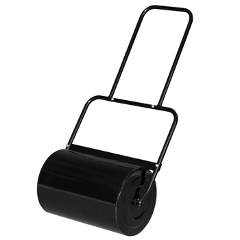 Oshion 19.5in  Lawn Roller Iron Cylindrical Black