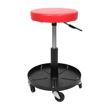 Adjustable Tool Rolling Creeper Seat Red