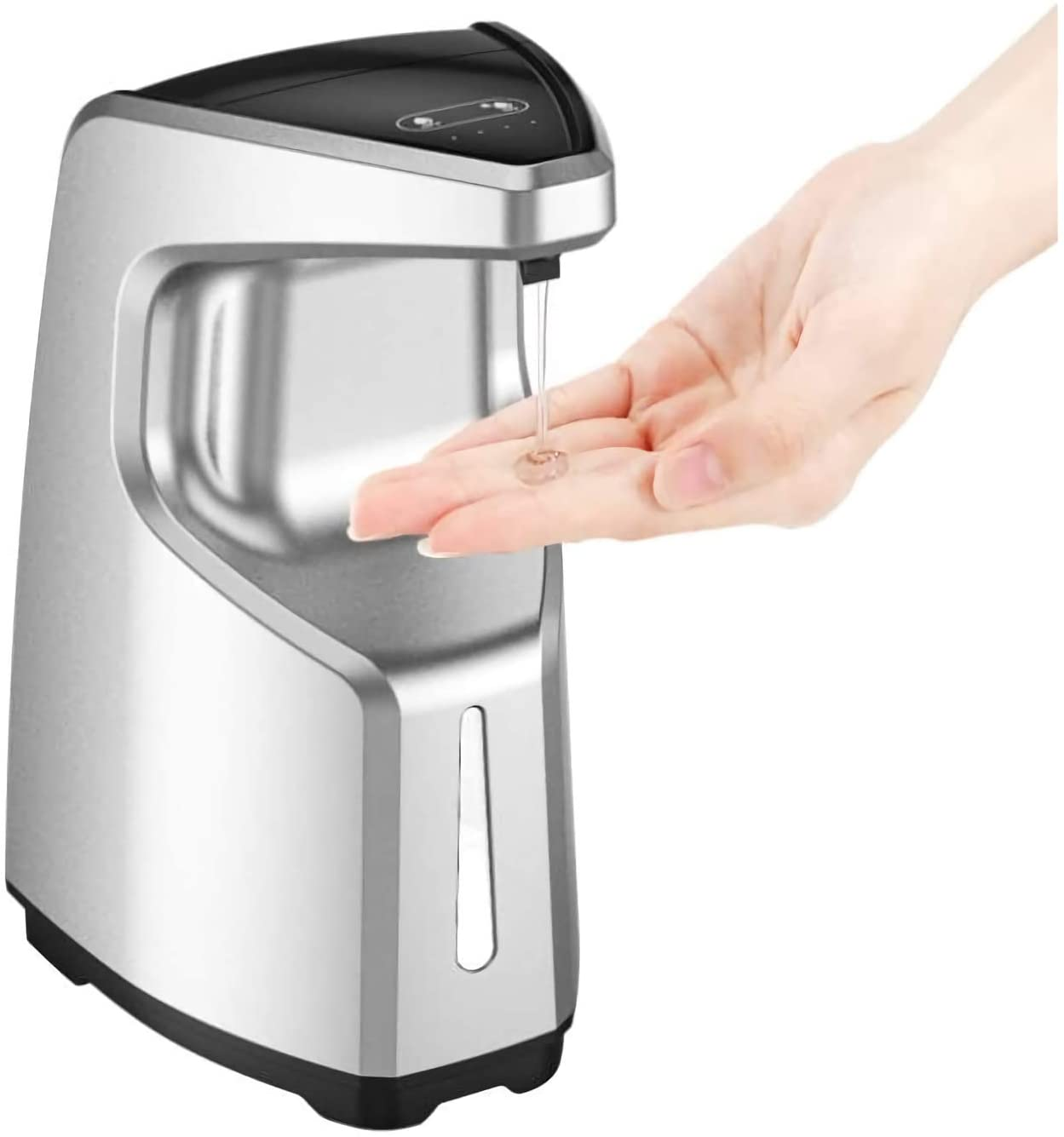 SADALAK Automatic Soap Dispenser Touchless Automatic Hand Sanitizer Dispenser Countertop/Wall Mounted 450 ML Soap Dispenser for Bathroom Kitchen Offic