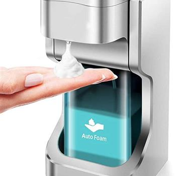 HOXIYA Automatic Foam Soap Dispenser with Touchless Automatic Foaming for Bathroom/Home/School/Office, 500ml Large Capacity Countertop Infrared Motion