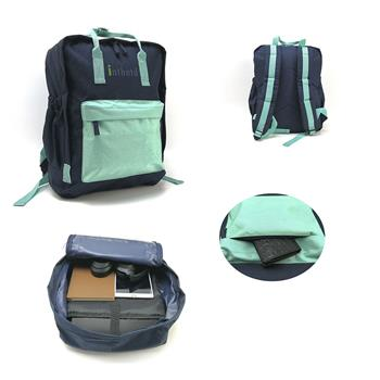 Lightweight Backpack for School, Classic Basic Water Resistant Casual Daypack for Travel with Bottle Side Pockets