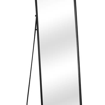 Artisasset Modern Black Full Length Dressing Floor Mirror with Free Stand