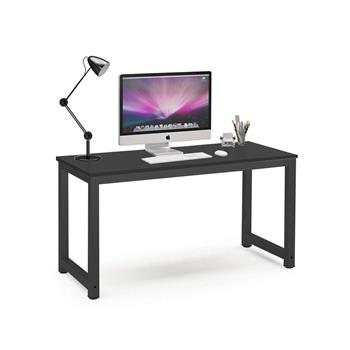 Computer Desk Study Table Gaming Desk Movable Home Furniture Modern  Made of Wooden and Anti Rust Paint Steel Frame for Office Outdoor Gaming Room