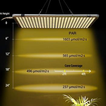LED Grow Light 300W,  Full Spectrum Grow Light, Plant Light for Indoor Plants, 338 Sunlike LEDs, 22inch Large Indoor Plant Light, Commercial Indoor Gr