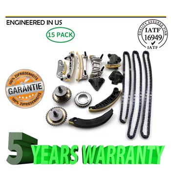 For 07-15 3.6L 3.0L Cadillac Buick Chevy Saturn Pontiac DOHC Timing Chain Kit