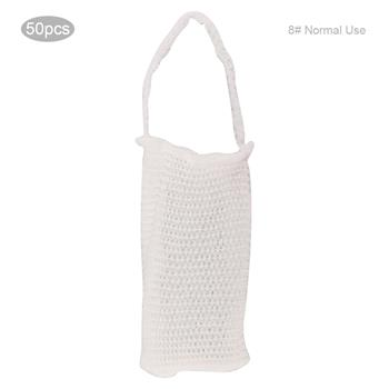 50pcs Elastic Mesh Hat Breathable Mesh Bandage for Wound Dressing(8# Normal Use )