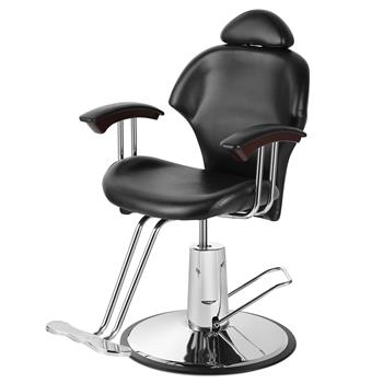 Reclining Leather Barber Chair Shampoo Hairdressing Salon