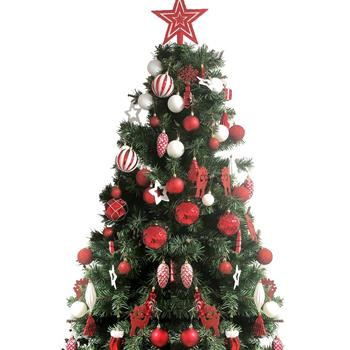 88 Piece Assorted Christmas Tree Ornaments Set, Shatterproof Balls Xmas Seasonal Decorative Hanging Baubles Set with Reusable Hand-held Gift Package f