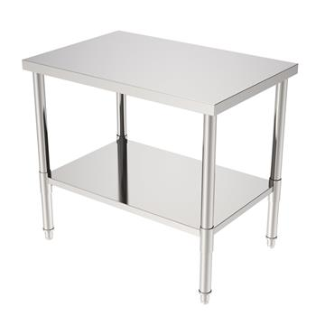 """36"""" Stainless Steel Galvanized Work Table (without Back Board)"""