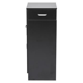 Beauty Cabinet Shelf 2 Drawers 1 Door 6 Hairdryers Black