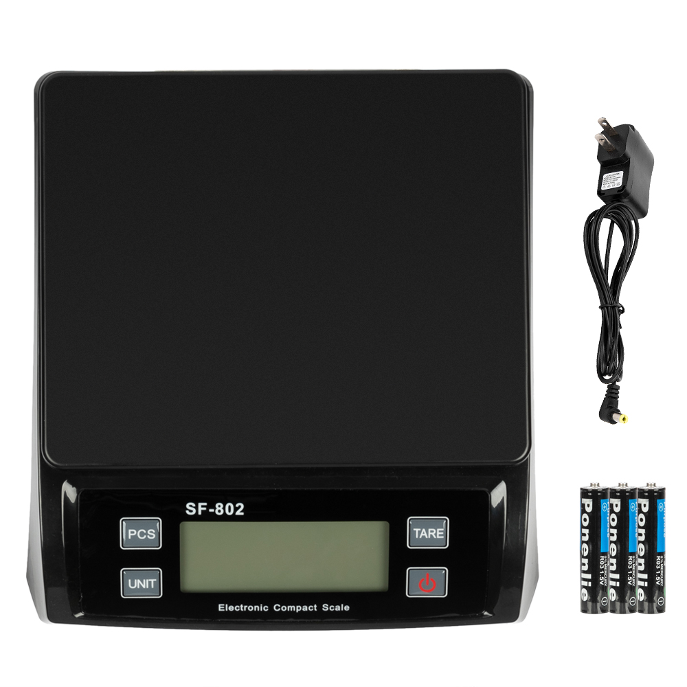 SF-802 30KG/1G High Precision LCD Digital Postal Shipping Scale Black with Adapter