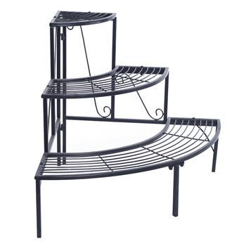 3 Tier Quarter Round Plant Corner Shelf Plant Stand Outdoor