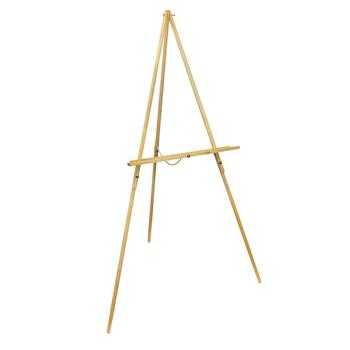 WJ-7 Portable Triangle Beech Easel Showing Stand Burlywood