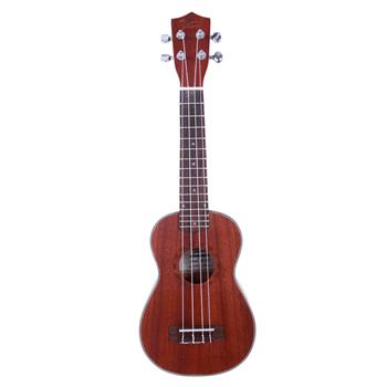 Glarry UC203 21 inch Diamond Pattern Full Sapele Ukulele Coffee