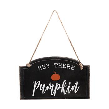 Artisasset HEY THERE PUMPKIN Halloween Hanging Sign Holiday Wall Sign