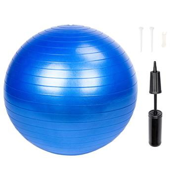 55cm 800g Gym/Household Explosion-proof Thicken Yoga Ball Smooth Surface Blue