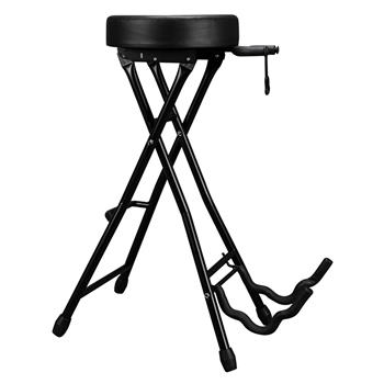 Glarry Foldable Guitar Stand Playing Stool Stand Footstool