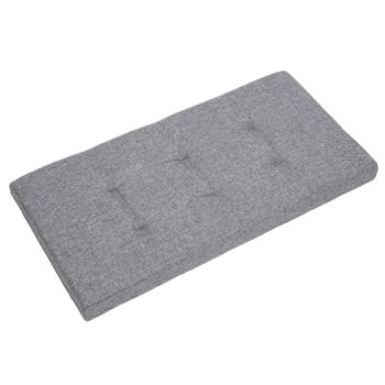 Practical Signature Cotton Rectangle Shape Surface with Line Footstool Gray