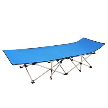 Outdoor Foldable Camping Ten-foot Bed Blue