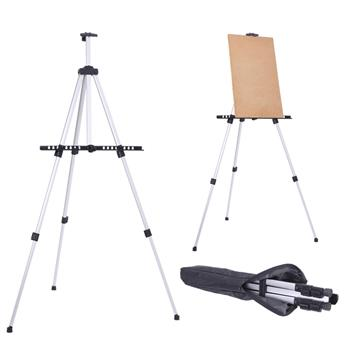 New Artist Aluminium Alloy Folding Easel Light Weight And Carry Bag White