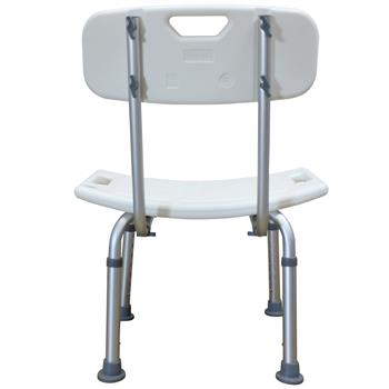 FCH Medical Bathroom Safety Shower Tub Aluminium Alloy Bath Chair Seat Bench with Removable Back White