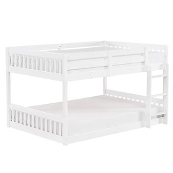 "Pine Bunk Bed Vertical Bunk Bed Vertical Bed Head 47.5 ""H Full White"