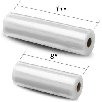 "2 pcs 8""x50'(20cmx15m)Vacuum Food Packaging Bag Dot Rolls"