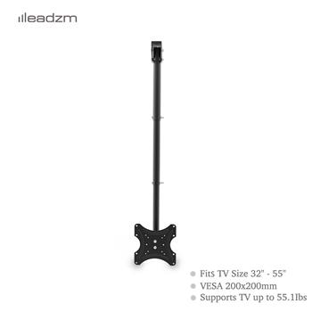 """LEADZM TMC-7004 Ceiling Mount TV Wall Bracket Roof Rack Pole Retractable For 32""""-55"""" Flat Screen"""