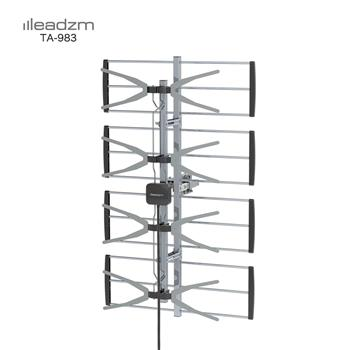 Leadzm TA-W2 4 Grids 10 m 3C2V Double-head Black Wire Outdoor Antenna Without Stand