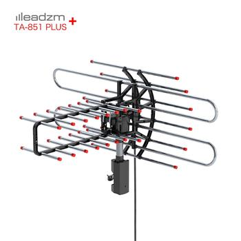 Leadzm TA-851 Plus 360°Rotation UV Dual Frequency 45-860MHz 22-38dB 42.65ft cable Outdoor Antenna
